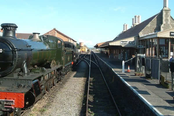 West Somerset Railway Station in Minehead
